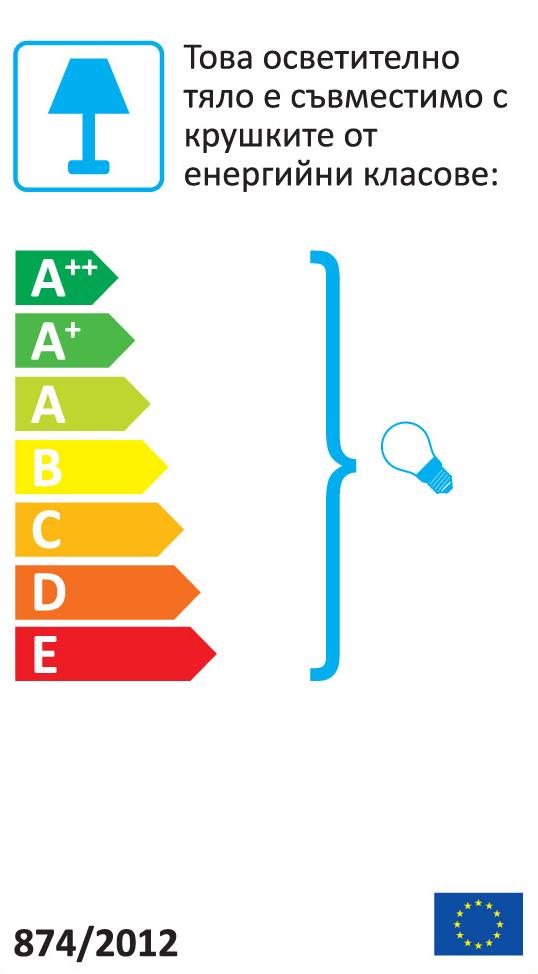 Виж етикета за Текстилен абажур - сив