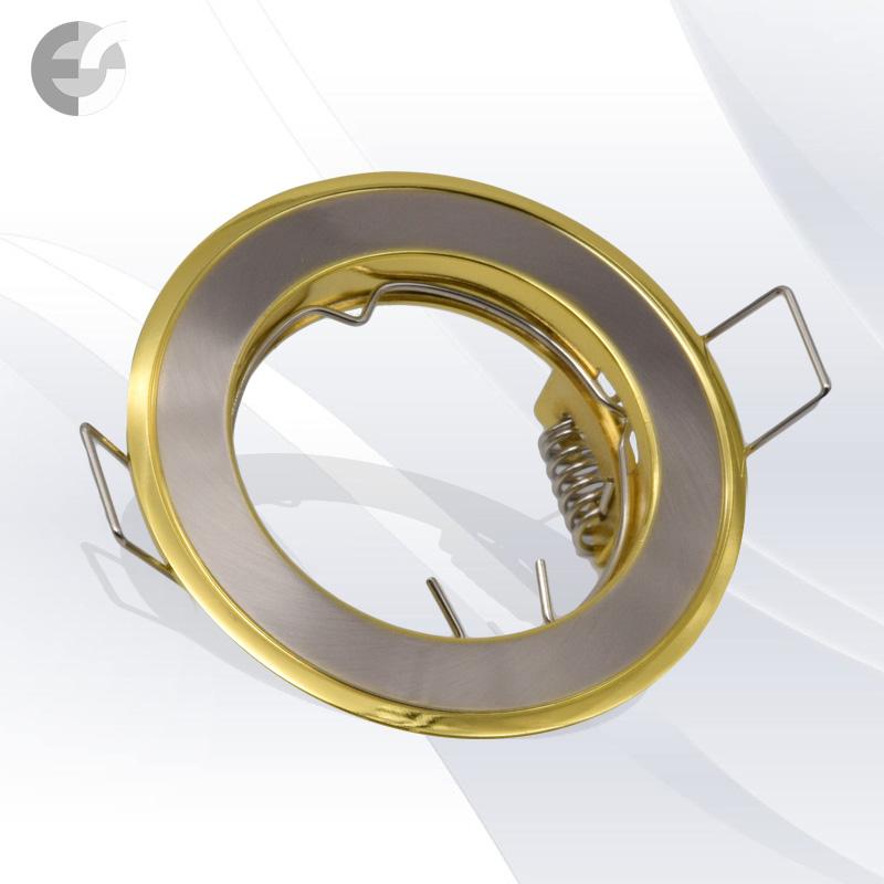 Двуцветна стационарна луна сат.никел/злато От Електро Стил ООД