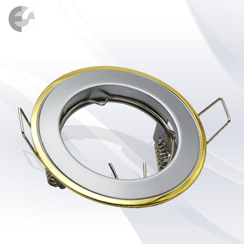 Двуцветна стационарна луна перл.ник/злато От Електро Стил ООД