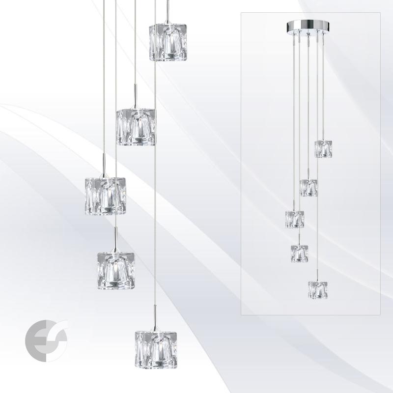 Lustre moderne living ICE CUBE 6775-5-LED