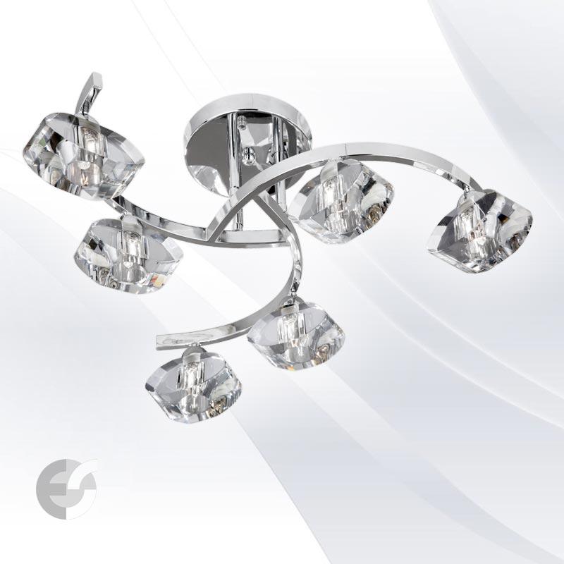 Plafoniere - corpuri de iluminat SCULPTURED ICE 8086-6CC