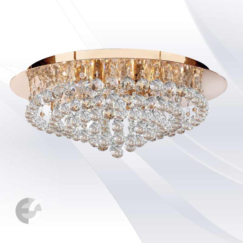 Plafoniere cristal HANNA 3408-8GO
