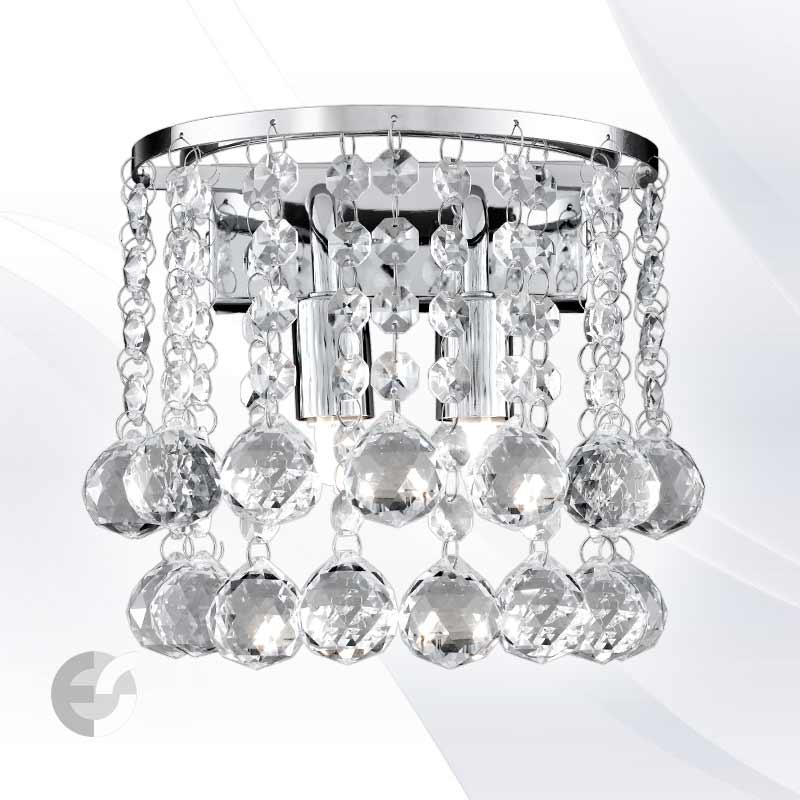 Аплик HANNA с декорация от кристали