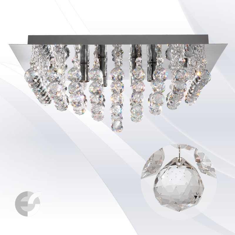 Plafoniere cristal HANNA 6406-6CC