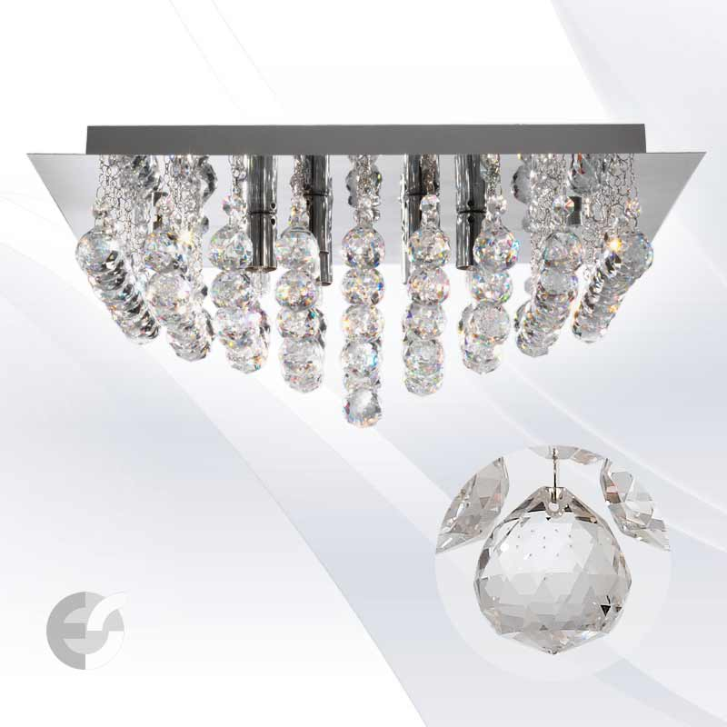 Plafoniere cristal HANNA 6404-4CC