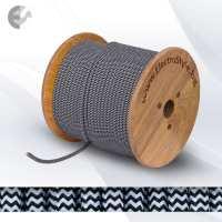 Текстолен кабел 2х0.75mm2 черно-бяла опетка От Електро Стил ООД