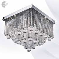 Плафон BEATRIX с декорация от кристали От Електро Стил ООД