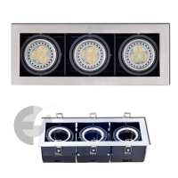 920717-3 - corp argint carcasa de metal adancime 3xGU5.3