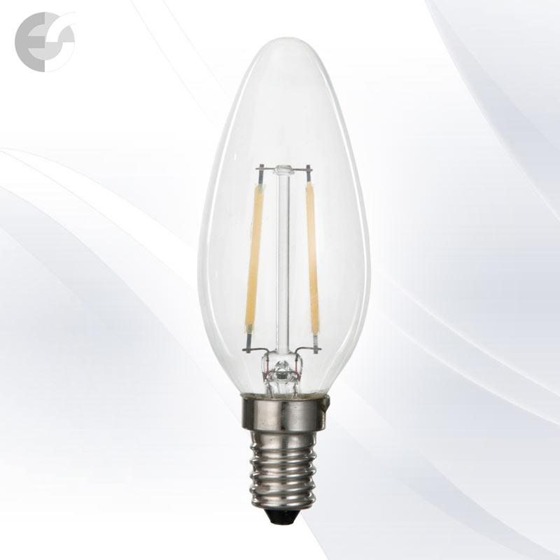 Bec tip lumanare cu LED-uri E14 2W 210Lm 3000K