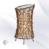 Настолна лампа с ратан RUTH - ръчно изработена От Електро Стил ООД