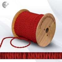 Текстилен кабел 2х0.75мм2 усукан червен От Електро Стил ООД