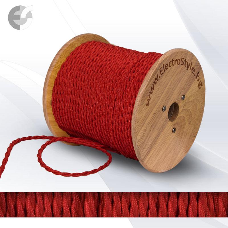 Cablu textil rasucit rosu 2x0.75mm2  0527511T