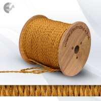 Текстилен кабел 2х0.75мм2 усукан златен От Електро Стил ООД