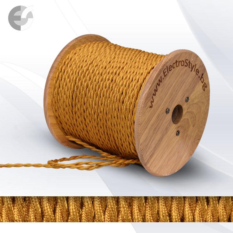 Cablu textil rasucit auriu 2x0.75mm2  0527503T