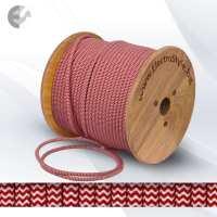 Текстилен кабел 2х0.75мм2 оплетка червено-бял От Електро Стил ООД
