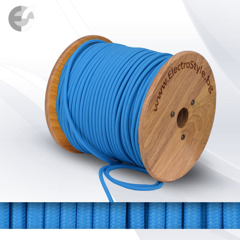 Cablu textil albastru 2x0.75mm2 0527519