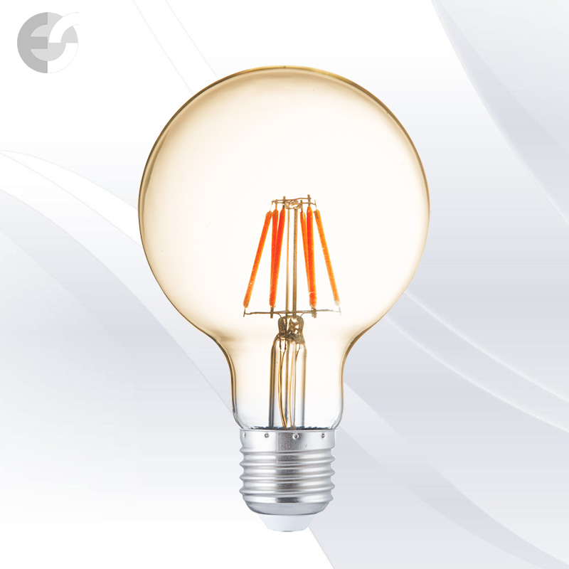 led dekorativna krushka globus filament 6W e27 600 lm led filament bulbs