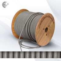 Текстилен кабел 2х0.75mm2 сребрист (титан) От Електро Стил ООД