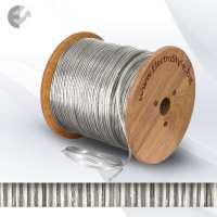 0527507PVC - Cablu textil 2x0.75mm2 transparent