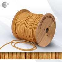 Текстилен кабел 2х0.75мм2 златен От Електро Стил ООД