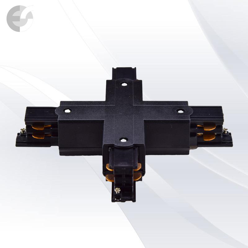 Съединител X за 4-линейна шина(3L04HX-BK)