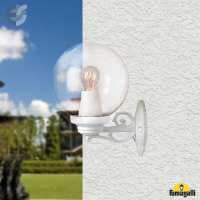 G25.131.000.WXE27 - Влагозащитен бял градински аплик GLOBE 250