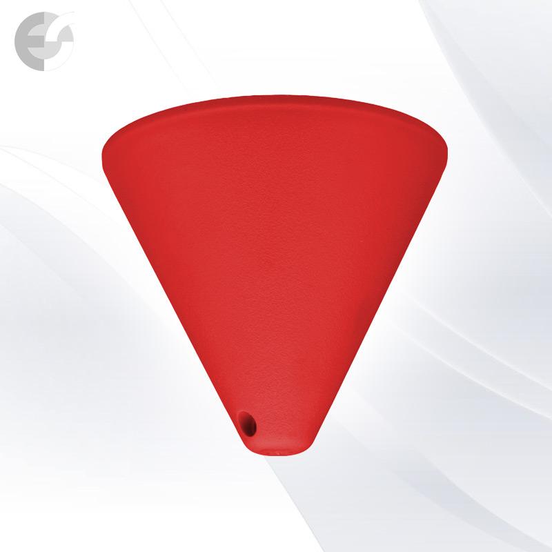 PVC конус за пендел към таван червен От Електро Стил ООД
