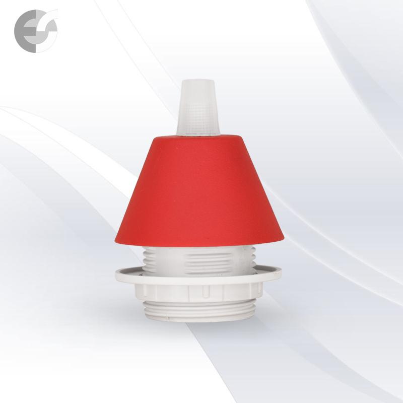 Конус PVC за пендел към фасунга червен От Електро Стил ООД