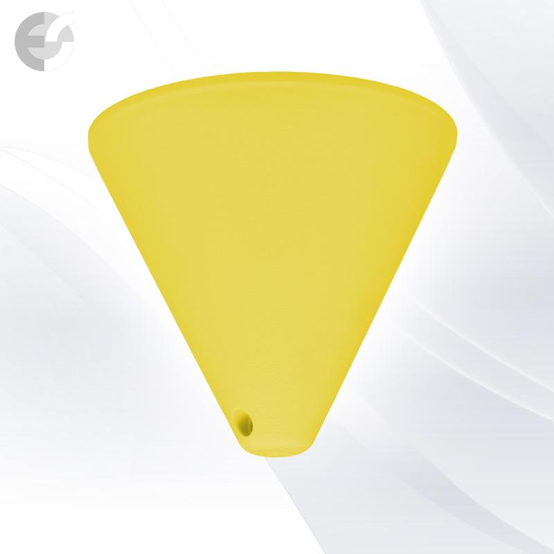 Конус PVC за пендел към таван жълт От Електро Стил ООД