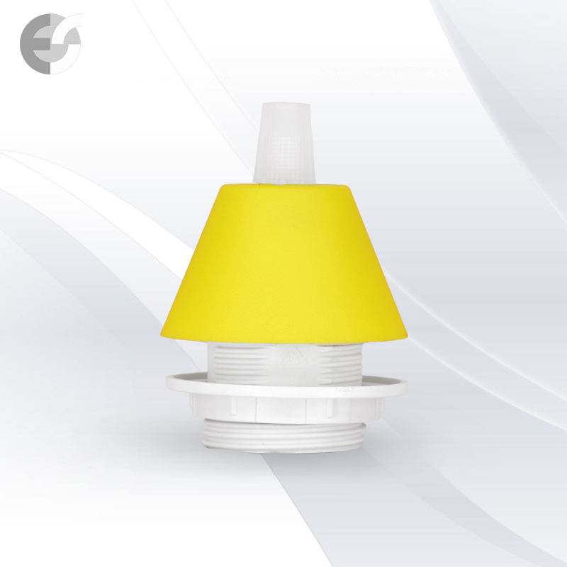 Конус PVC за пендел към фасунга жълт - малък(0702YE/SET)