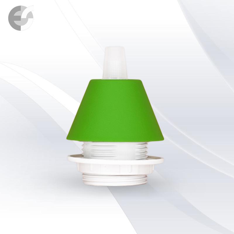 Конус PVC за пендел към фасунга зелен От Електро Стил ООД