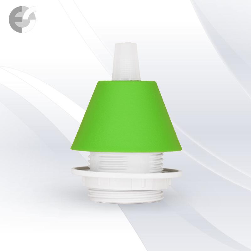 Конус PVC за пен-л към фасунга СВЕТЛО зелен-малък(0702LGR/SET)