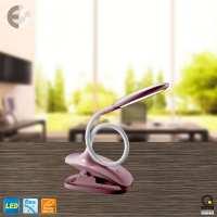 LED лампа с щипка BELLO розова От Електро Стил ООД