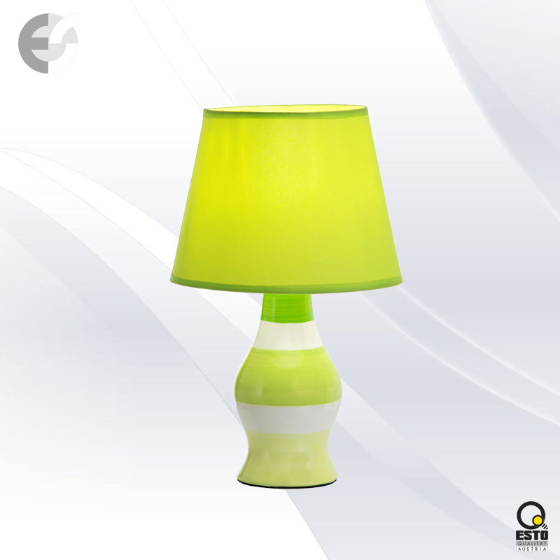 Нaстолна лампа CANDY в бяло и зелено От Електро Стил ООД