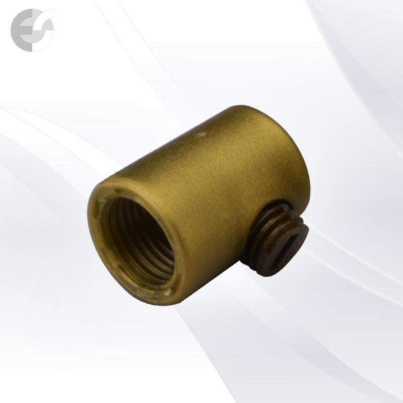 Стопер за кабел проходен с винт златен От Електро Стил ООД