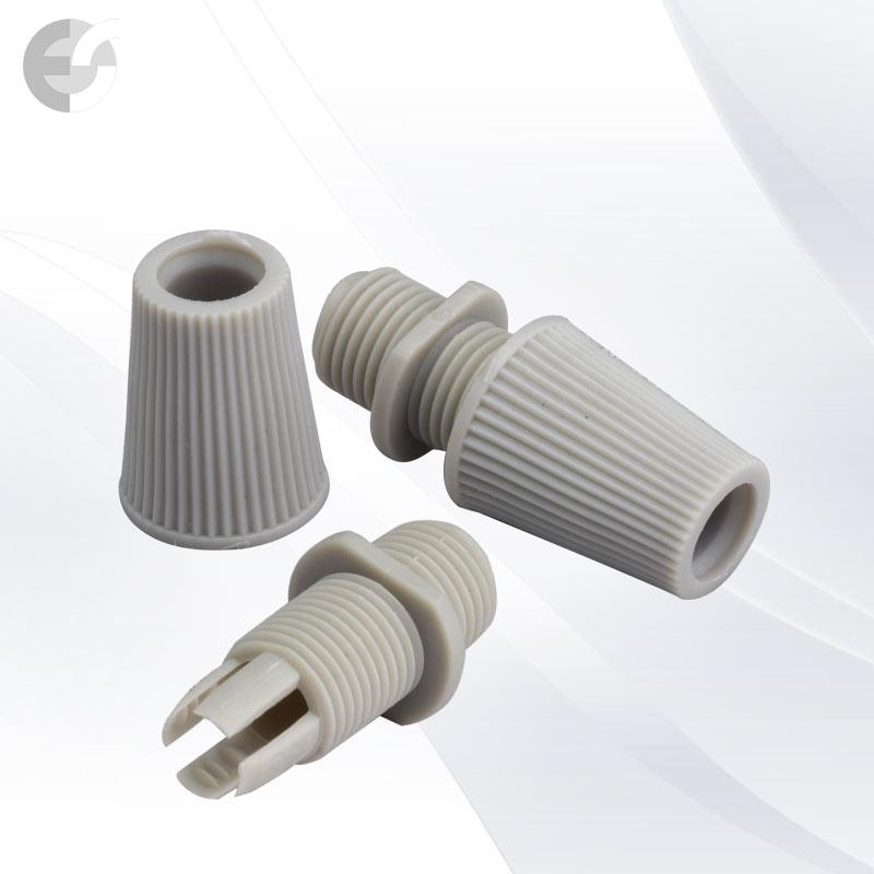 Стопер за кабел с муфа за фасунга сив(00713)