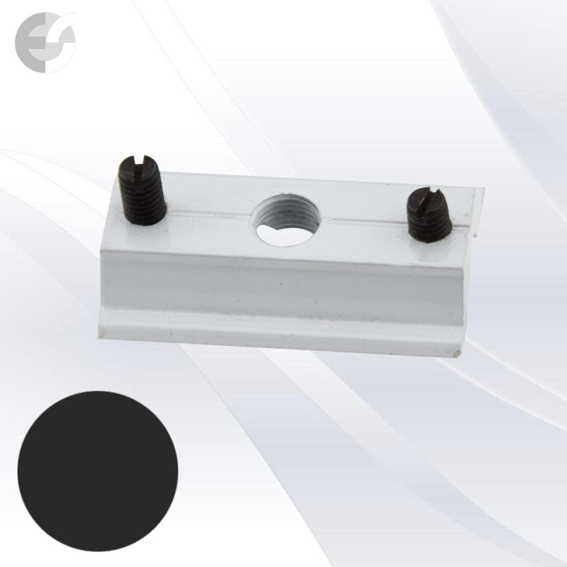 Монт скоба за 2-линейна шина черна От Електро Стил ООД