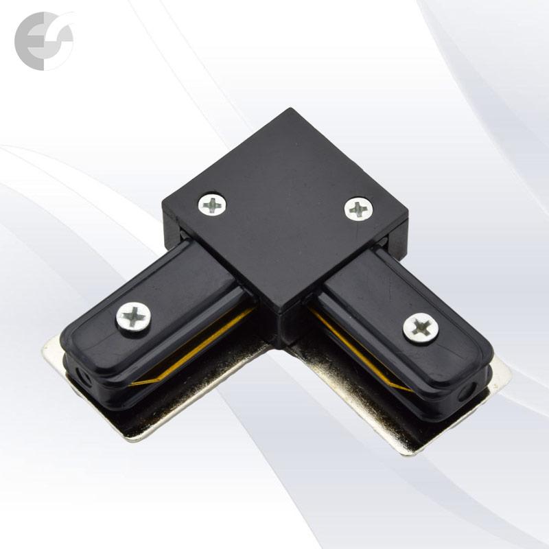 Ъглов конекторен елемент за 2-линейна шина черна От Електро Стил ООД