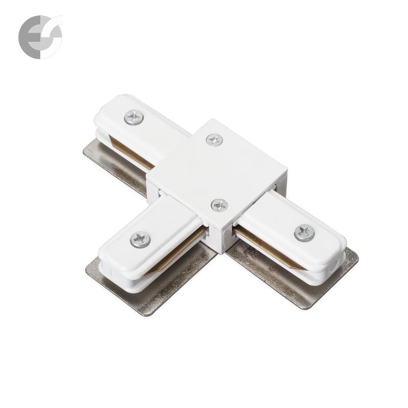Трипътен конекторен елемент за 2-линейна шина бяла От Електро Стил ООД