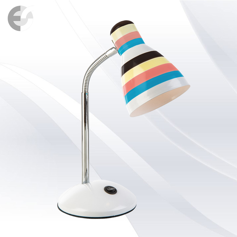Настолна лампа бяла с цветни линии TRACE