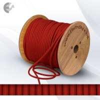 Текстилен кабел 2х0.75мм2 наситено червен От Електро Стил ООД