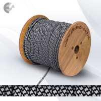 Текстилен кабел 2х0.75мм2 черно-бял От Електро Стил ООД