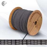 Текстилен кабел 2х0.75мм2 антрацит/сив ZigZag От Електро Стил ООД