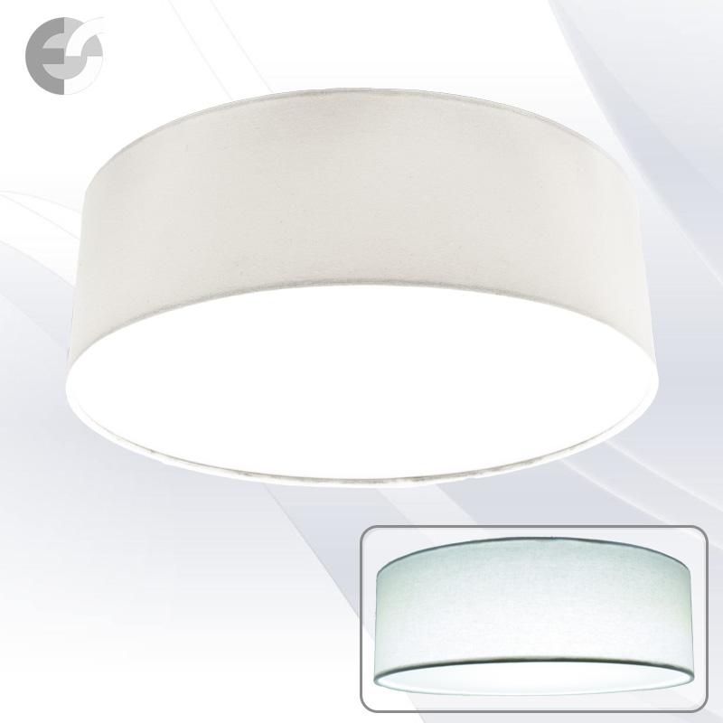 LED Плафон MOON с бял текстилен абажур