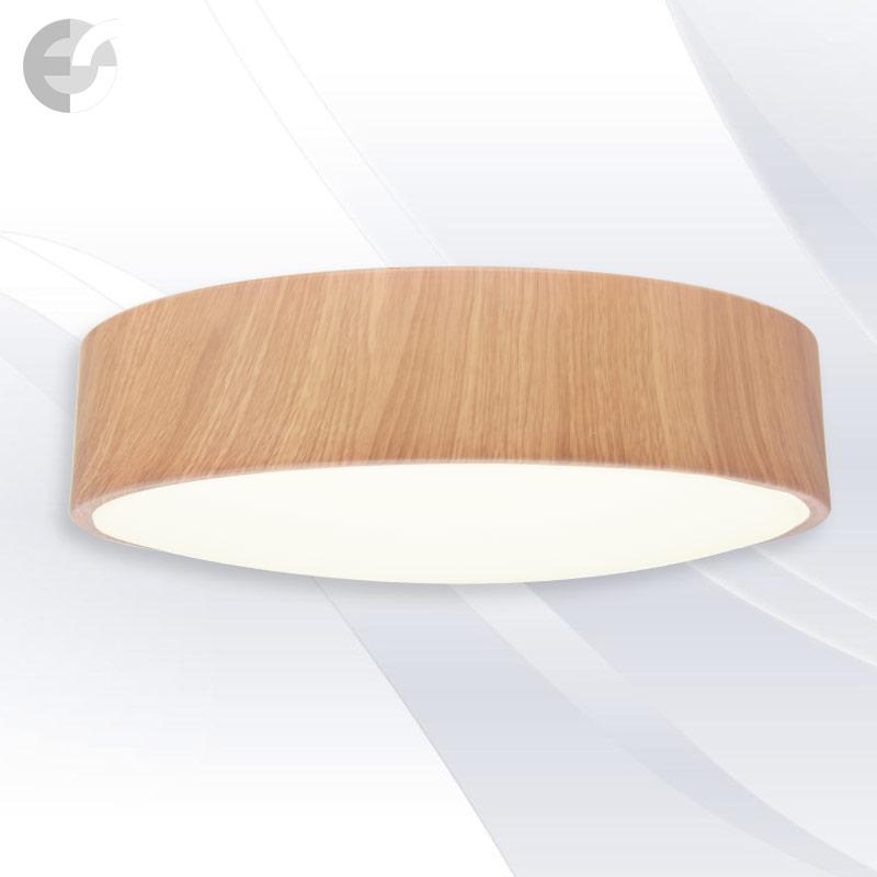 Plafoniera cu LED DISK, 68cm DISK68SA9-6E27OAK