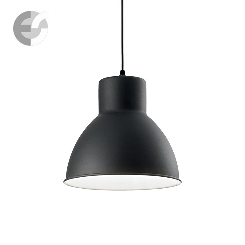 Полилей METRO в инсудтриален стил / черно и бяло / D: 27.50 см