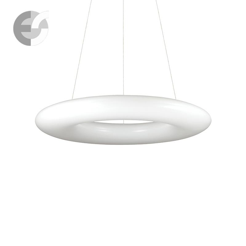 Осветително тяло за кухня - LED Полилей POLO в бяло | D: 60 см От Електро Стил ООД