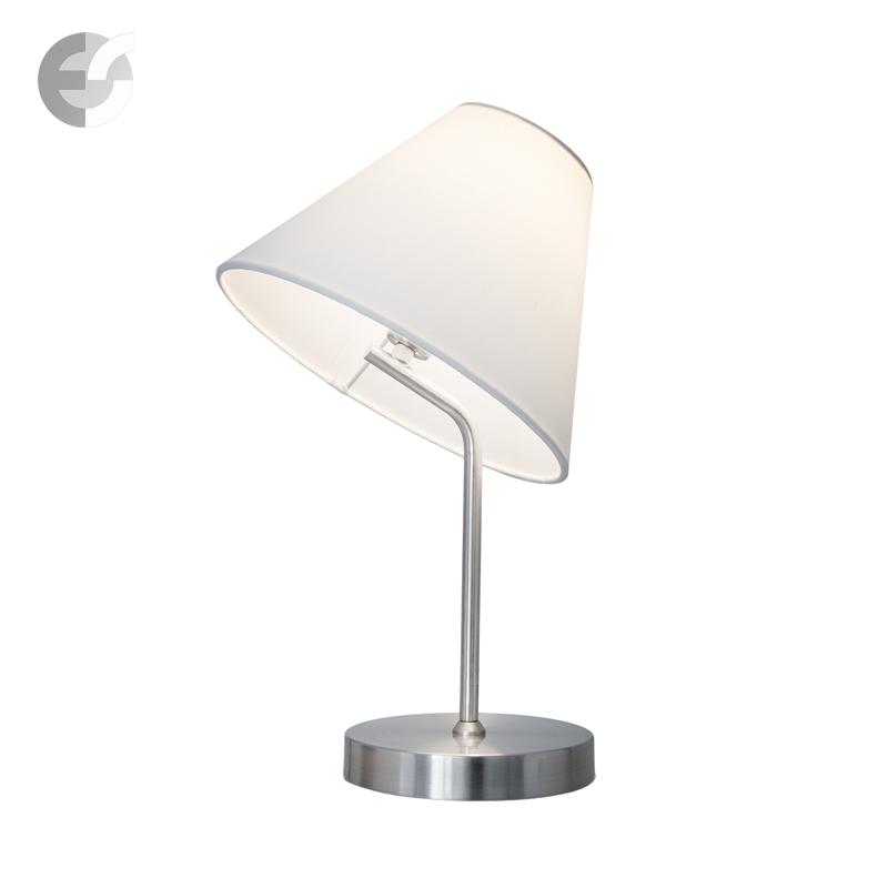 Класическа настолна лампа SLANTLY   матиран хром От Електро Стил ООД