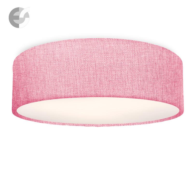 Плафон MOON текстилен абажур, розов, H:15 см