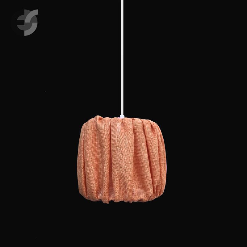 Осветитлено тяло - Пендел PLEAT, бял, оранжев, E27